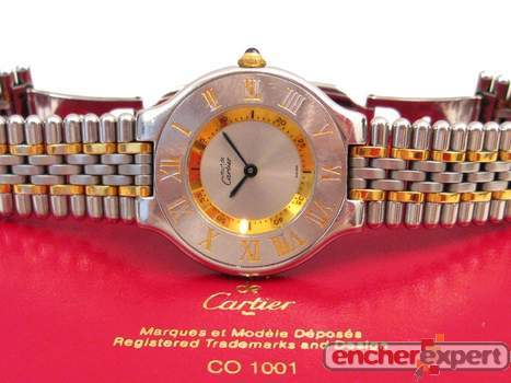 De 21 Cartier 1330 Femme Montre Must Quartz Acier hrQCtdsx