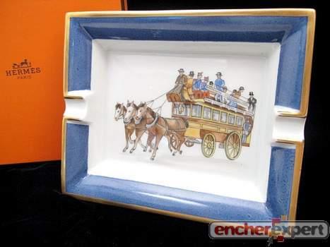 310020cb7485 Vintage vide poche cendrier HERMES caleche autobus - Authenticité ...