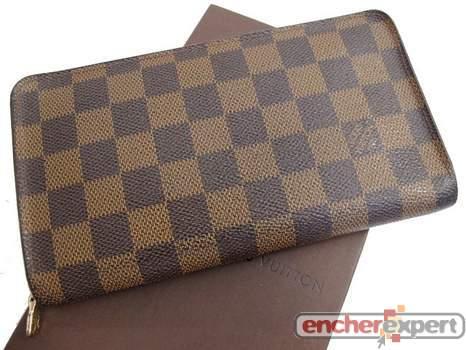 9ef711a8b35 Portefeuille LOUIS VUITTON zippy toile damier - Authenticité garantie -  Visible en boutique