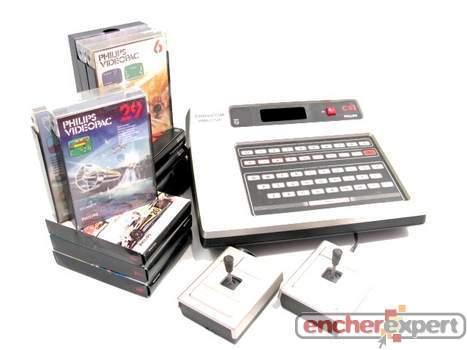 vintage console de jeux video philips videopac c52. Black Bedroom Furniture Sets. Home Design Ideas