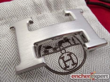 Boucle de ceinture HERMES h homme acier palladie - Authenticité garantie -  Visible en boutique 3a7008b35ab