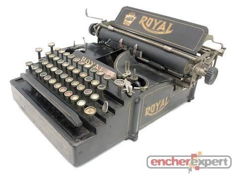 ancienne machine a ecrire royal standard 5 deb xx authenticit garantie visible en boutique. Black Bedroom Furniture Sets. Home Design Ideas