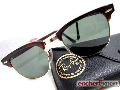 de b rayban clubmaster Vintage lunettes usa l Authenticité soleil Hqx5w1OwA