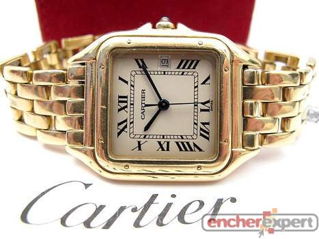 Montre cartier panthere gm en or 18k homme 27 mm