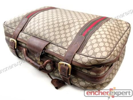 7e6e11c5e1 Vintage sac de voyage gucci valise a main 60 cm - Authenticité garantie -  Visible en boutique