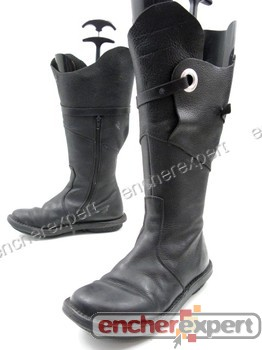 pas mal ab88c bdbdf Chaussures trippen bottes 39 en cuir noir femme ...