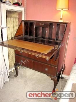 secretaire dos d ane style anglais chippendale authenticit garantie visible en boutique. Black Bedroom Furniture Sets. Home Design Ideas