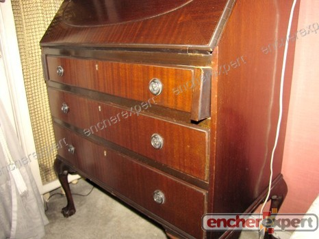 Secretaire dos d ane style anglais chippendale for Meuble chippendale