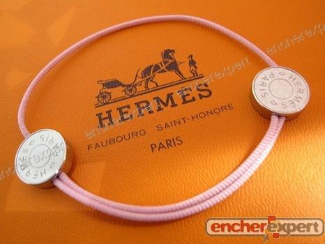 Bracelet Hermes Coulisse Double Clou De Selle Rose