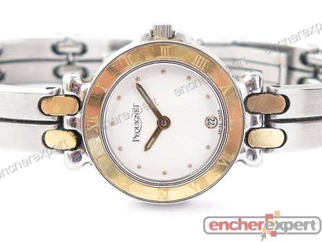 Vintage montre pequignet moorea 7711318 24 mm or