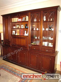 bibliotheque anglaise vitrine meuble anglais. Black Bedroom Furniture Sets. Home Design Ideas