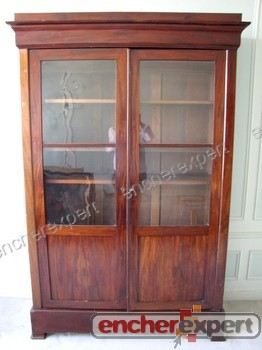 bibliotheque ancienne epoque louis philippe meuble authenticit garantie visible en boutique. Black Bedroom Furniture Sets. Home Design Ideas