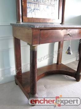 coiffeuse d 39 epoque empire psyche ancienne a miroir authenticit garantie visible en boutique. Black Bedroom Furniture Sets. Home Design Ideas