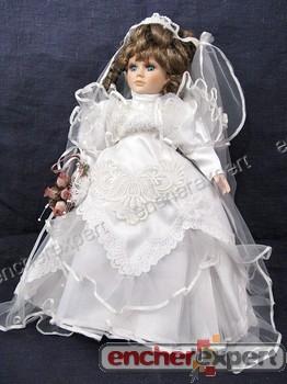 Ancienne Poupee De Collection Robe De Mariee Authenticite Garantie Visible En Boutique
