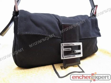 Sac Main Baguette En Authenticité Fendi Noire Dustbag A Toile Y6ygIfvb7