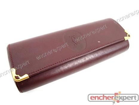 a515623416 Vintage etui pour lunettes cartier en cuir - Authenticité garantie -  Visible en boutique