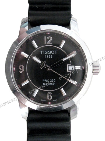 montre homme tissot prc 200 t014410a quartz acier authenticit garantie visible en boutique. Black Bedroom Furniture Sets. Home Design Ideas