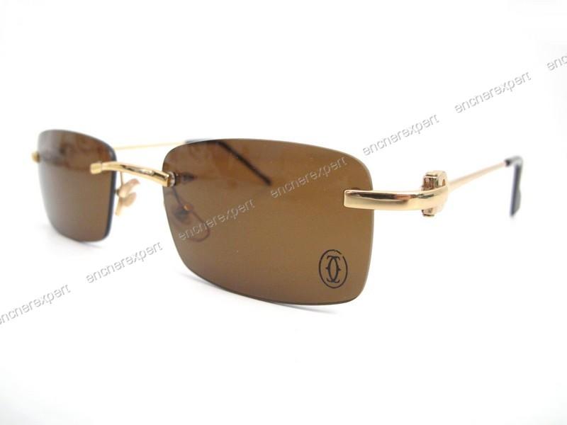 Paire de lunettes de soleil cartier decor c metal - Authenticité garantie -  Visible en boutique d54687bcb2cb