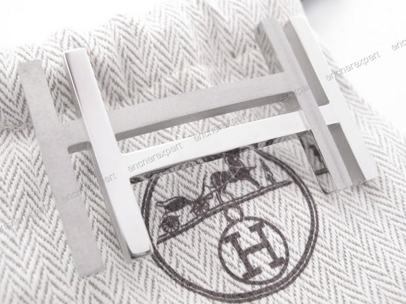 hermes birkin replica cheap - Boucle de ceinture HERMES h au carre acier - Authenticit�� garantie ...