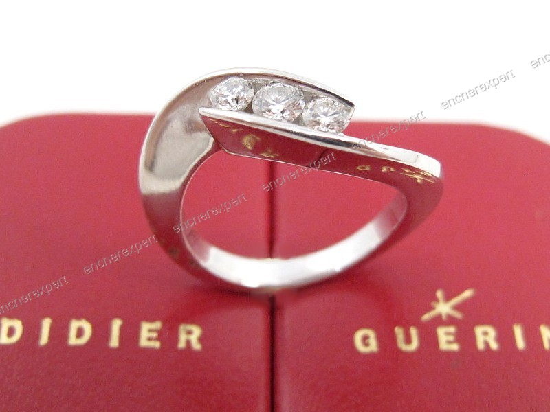 didier guerin bague or blanc diamant