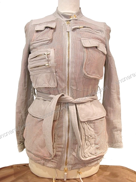 Neuf Manteau Blouson Gucci 38 M Veste Femme Cuir Authenticite