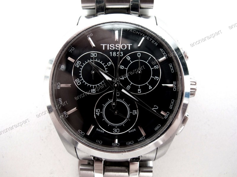 montre tissot couturier t035617 chronograph 41 mm authenticit garantie visible en boutique. Black Bedroom Furniture Sets. Home Design Ideas