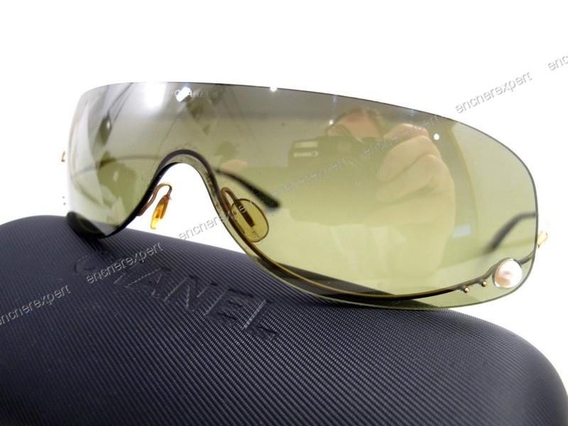 ae2103a75c5a0e Lunettes de soleil CHANEL masque monture metal - Authenticité garantie -  Visible en boutique