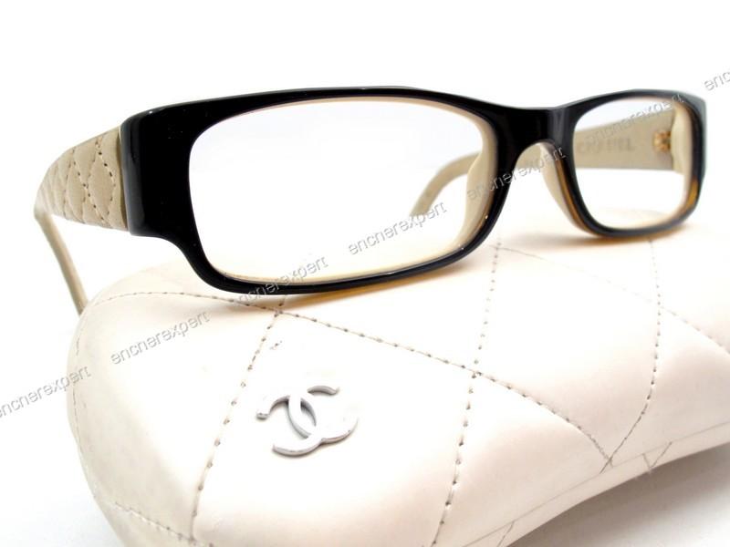 1274da9186d0e7 Monture de lunettes de vue CHANEL 3152q cuir - Authenticité garantie ...