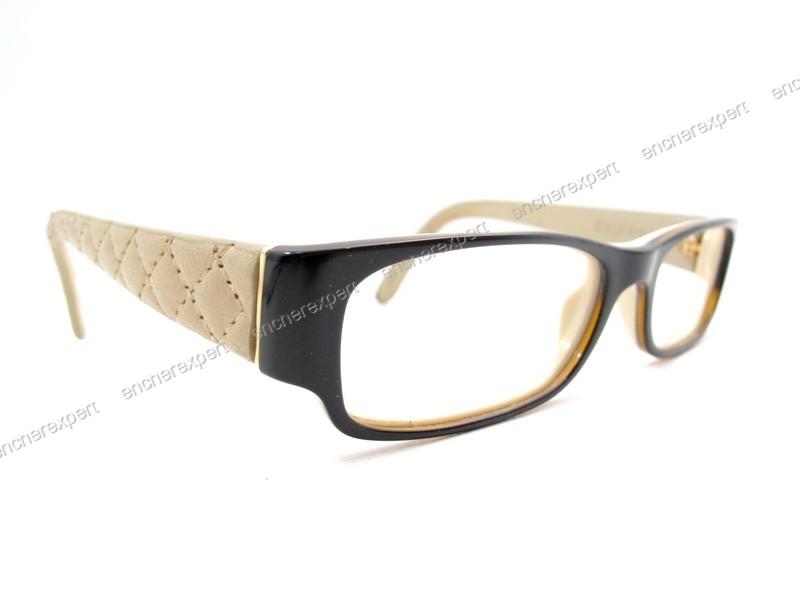 5433591b489a8 Monture de lunettes de vue CHANEL 3152q cuir - Authenticité garantie -  Visible en boutique