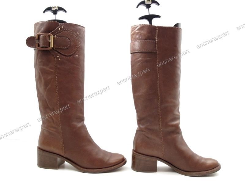 chaussures chloe bottes cavalieres 39 5 cuir authenticit garantie visible en boutique. Black Bedroom Furniture Sets. Home Design Ideas