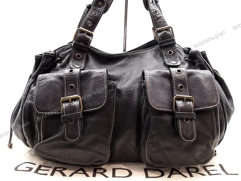 sac a main gerard darel 24h cabas tote cuir noir 2 authenticit garantie visible en boutique. Black Bedroom Furniture Sets. Home Design Ideas
