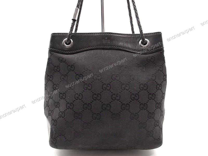 81a8a6a5bcd5 Vintage sac a main gucci 109143 cabas tote 22 cm - Authenticité ...