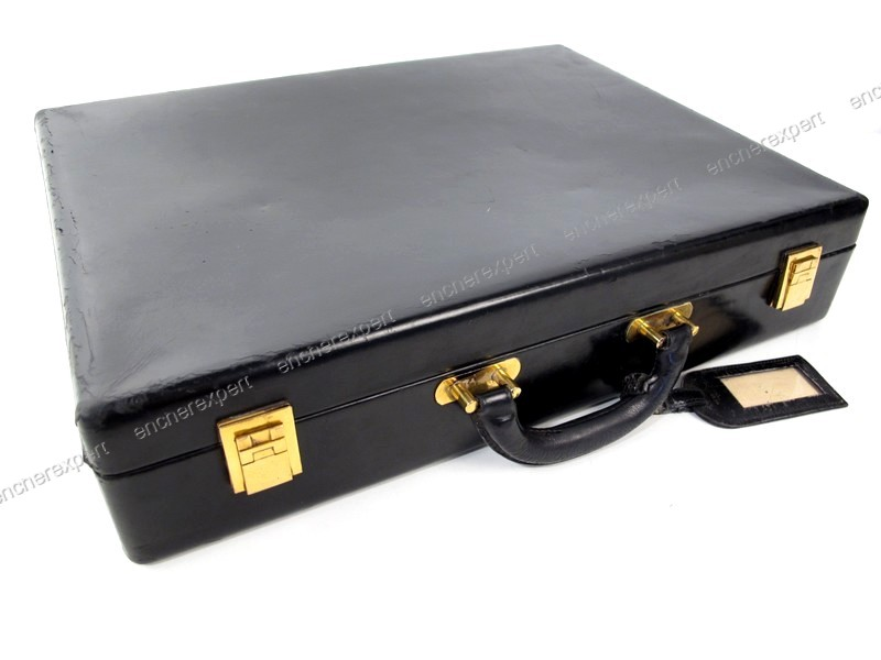 rare vintage attache case hermes 45 cm cuir box authenticit garantie visible en boutique. Black Bedroom Furniture Sets. Home Design Ideas