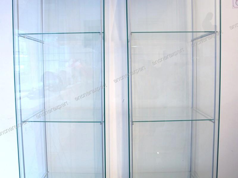 Lot De 2 Vitrines Ikea Detolf 163x43x37 Cm Cle 3 Authenticite Garantie Visible En Boutique