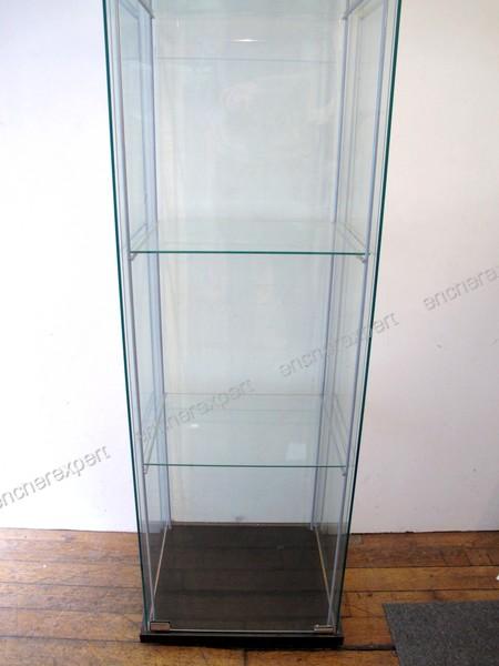 Lot de 2 vitrines ikea detolf 163x43x37 cm cle 3 authenticit garantie vi - Vitrine en verre ikea ...