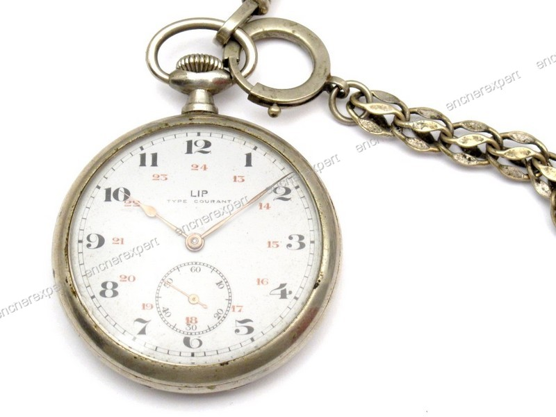 ancienne montre a gousset lip type courant 50 mm authenticit garantie visible en boutique. Black Bedroom Furniture Sets. Home Design Ideas