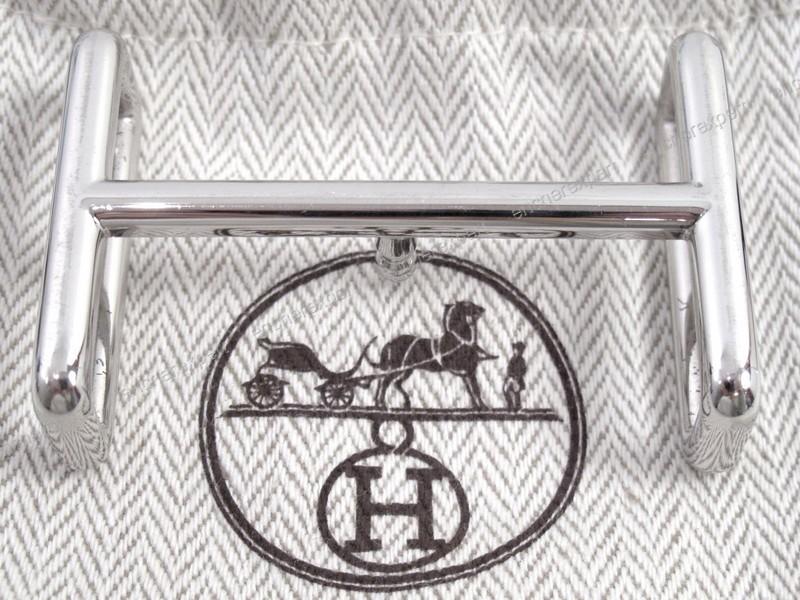Boucle de ceinture HERMES h idem en acier palladie - Authenticité garantie  - Visible en boutique cc9491e6166