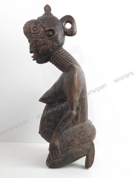 Ancienne sculpture africaine en bois bena lulua Authenticité garantie Visible en boutique # Sculpture Africaine En Bois