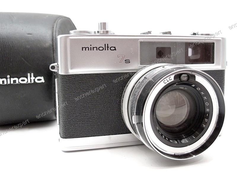 appareil photo argentique minolta hi matic 7s authenticit garantie visible en boutique. Black Bedroom Furniture Sets. Home Design Ideas