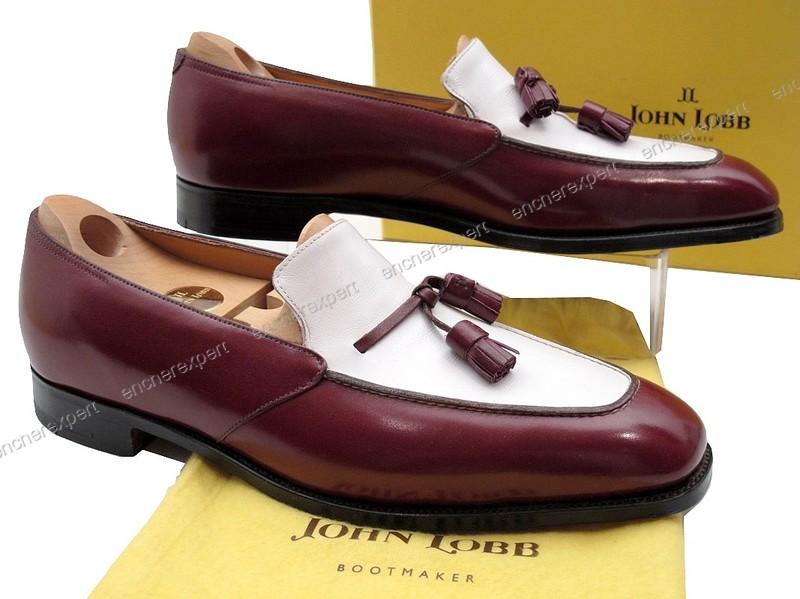 Neuf chaussures john lobb columbo mocassins 7.5e - Authenticité ... 8b6561baebb