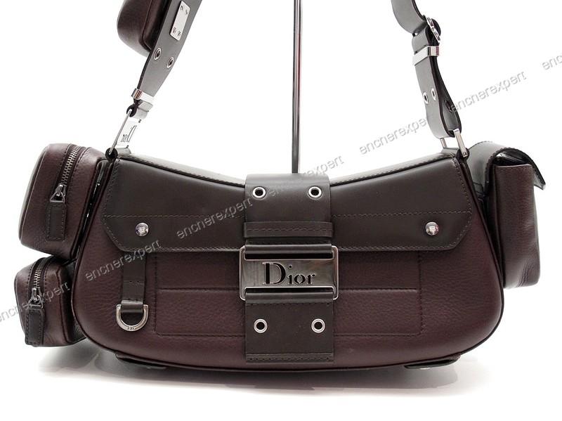 Sac à main Dior Street Chic en cuir marron