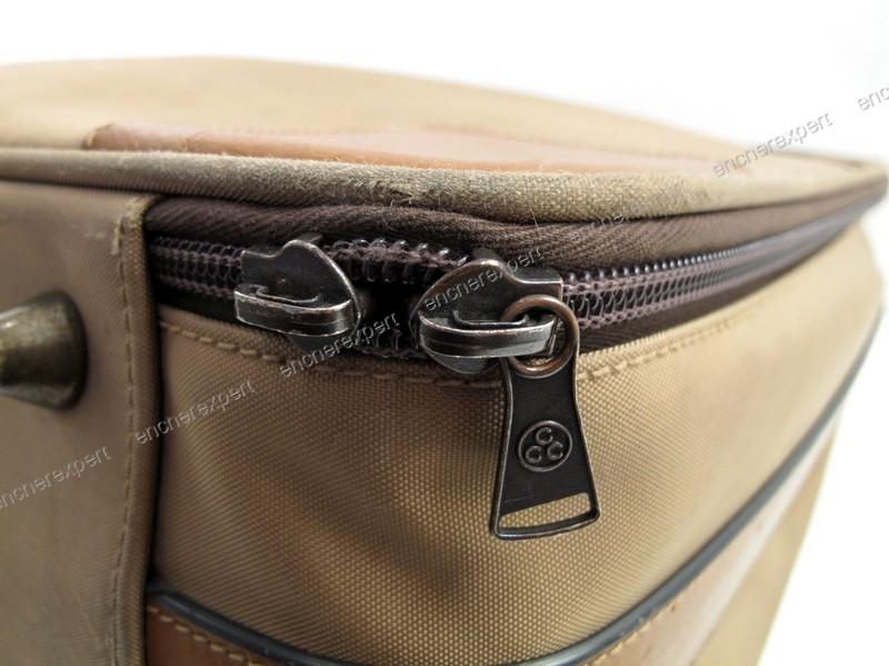 vintage valise lancel toile cuir beige sac de authenticit garantie visible en boutique. Black Bedroom Furniture Sets. Home Design Ideas