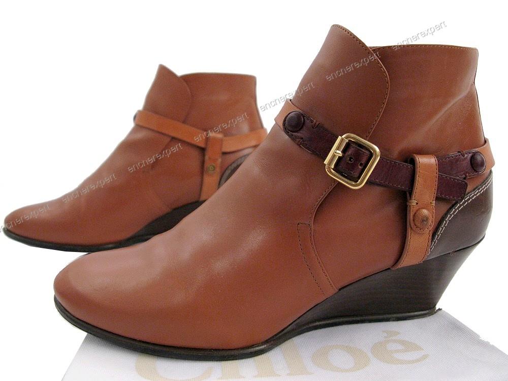 chaussures chloe debba low boots 39 en cuir marron authenticit garantie visible en boutique. Black Bedroom Furniture Sets. Home Design Ideas