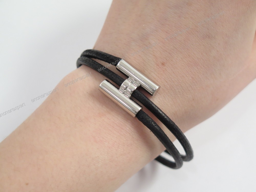 Bracelet Hermes Tournis H Double Tour Small Cuir
