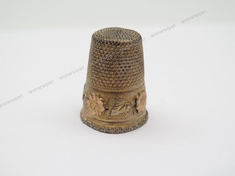 Ancien necessaire de couture en argent plaque or for Necessaire a couture en or