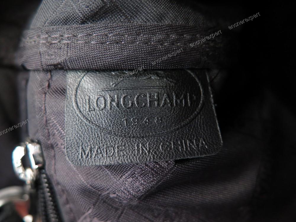 Leather Longchamp Black Foulonne Cabas Authenticity Le Handbag wIHqg
