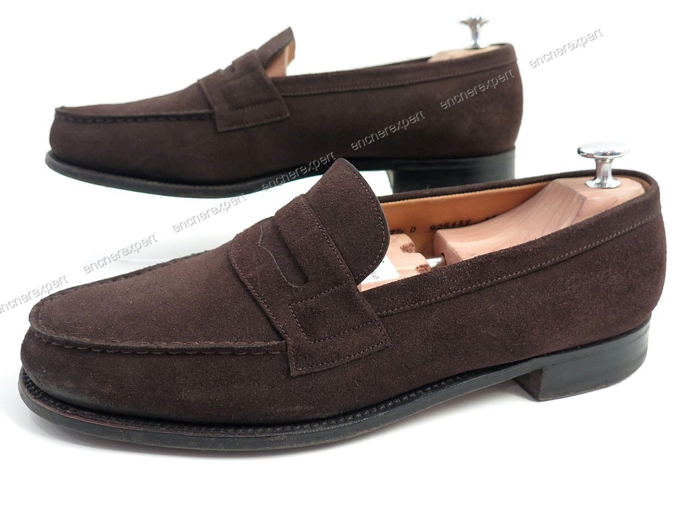 chaussures jm weston 180 mocassins 41 5 daim authenticit garantie visible en boutique. Black Bedroom Furniture Sets. Home Design Ideas
