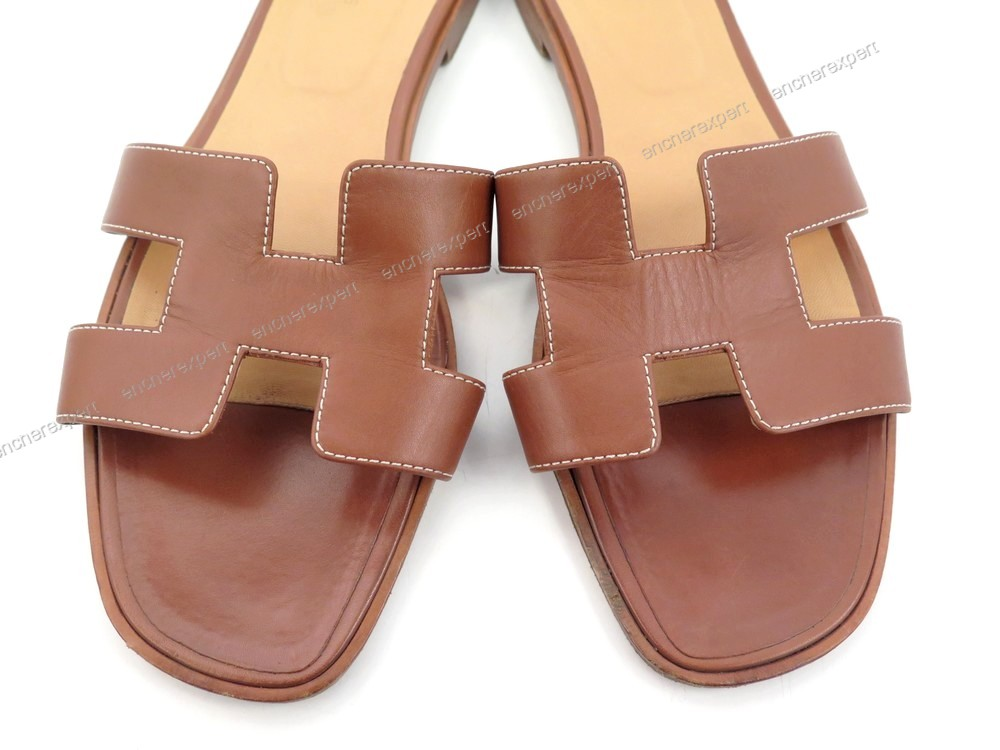 Hermes En Cuir Chaussures Authenticité Sandales Oran Dh2ie9w 42 Mules qA5RL43j