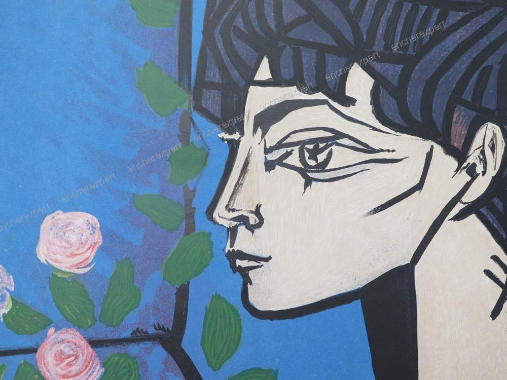 Affiche picasso les peintres temoins de leur temps musee galliera 1956 mourlot ebay - Musee picasso paris horaires ...