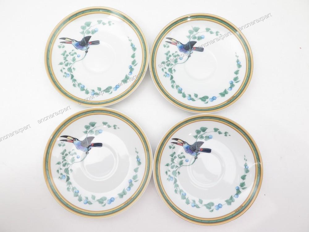 service a the cafe hermes toucans en porcelaine de authenticit garantie visible en boutique. Black Bedroom Furniture Sets. Home Design Ideas